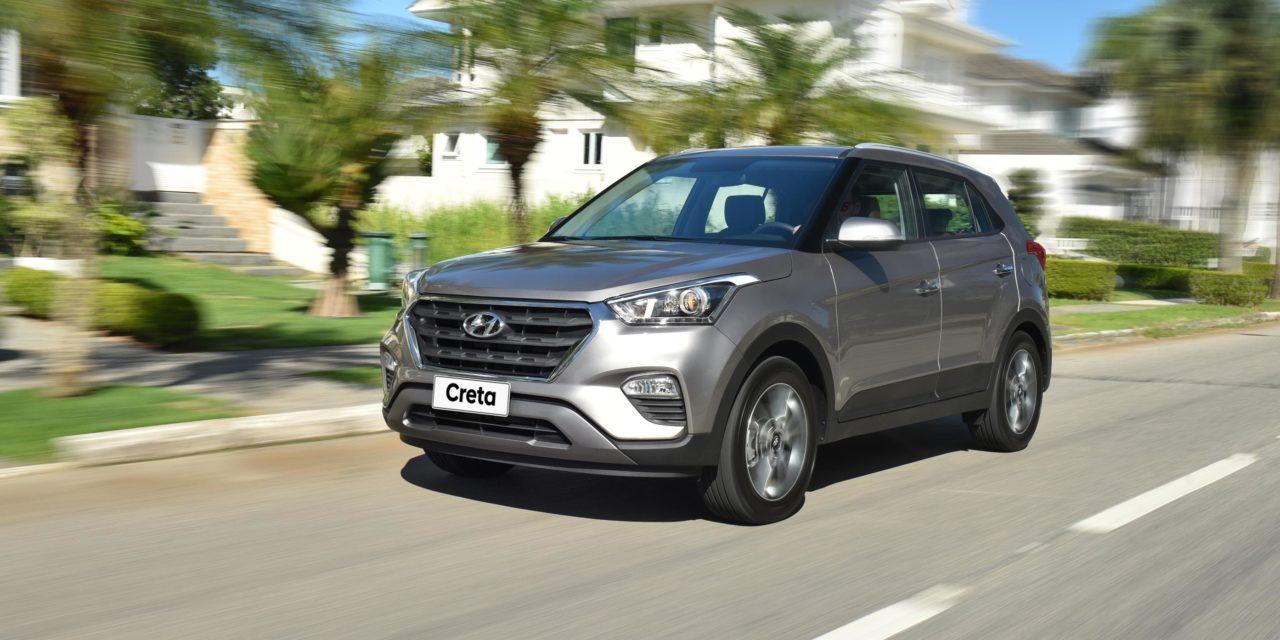 SUVs compactos: Creta caminha para ser o líder no mês.