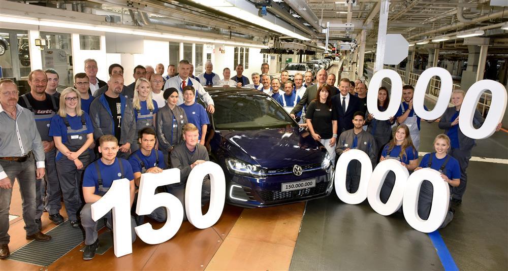VW: 150 milhões de veículos fabricados no mundo.