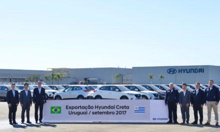 Hyundai inicia exportação do Creta para o Uruguai