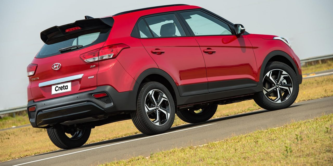 Hyundai Creta lidera o ranking de SUVs em novembro