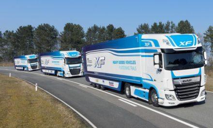 DAF em teste de comboios de caminhões