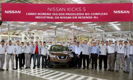 Nissan atinge produção de 150 mil veículos em Resende