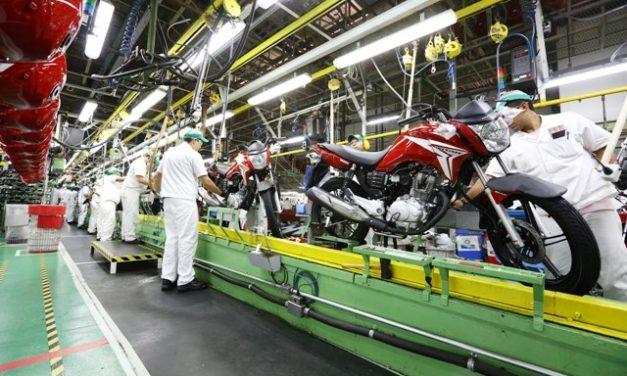 Produção de motocicletas supera 1 milhão de unidades em onze meses