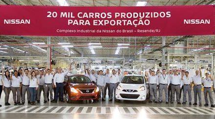 Nissan alcança marca de 20 mil unidades exportadas