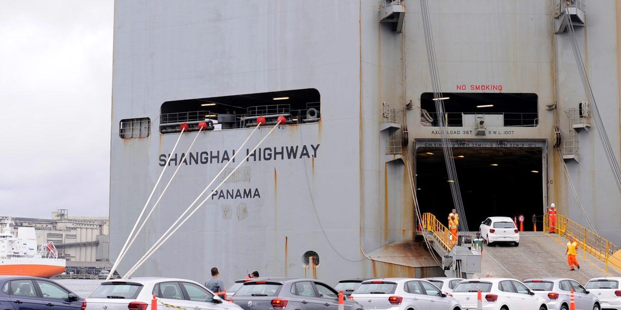 Exportações de veículos avançam 34% no primeiro quadrimestre