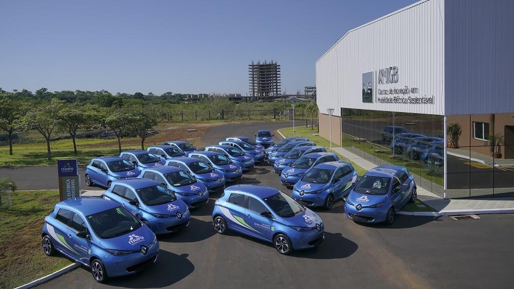 Renault entrega vinte veículos elétricos ZOE para a Itaipu
