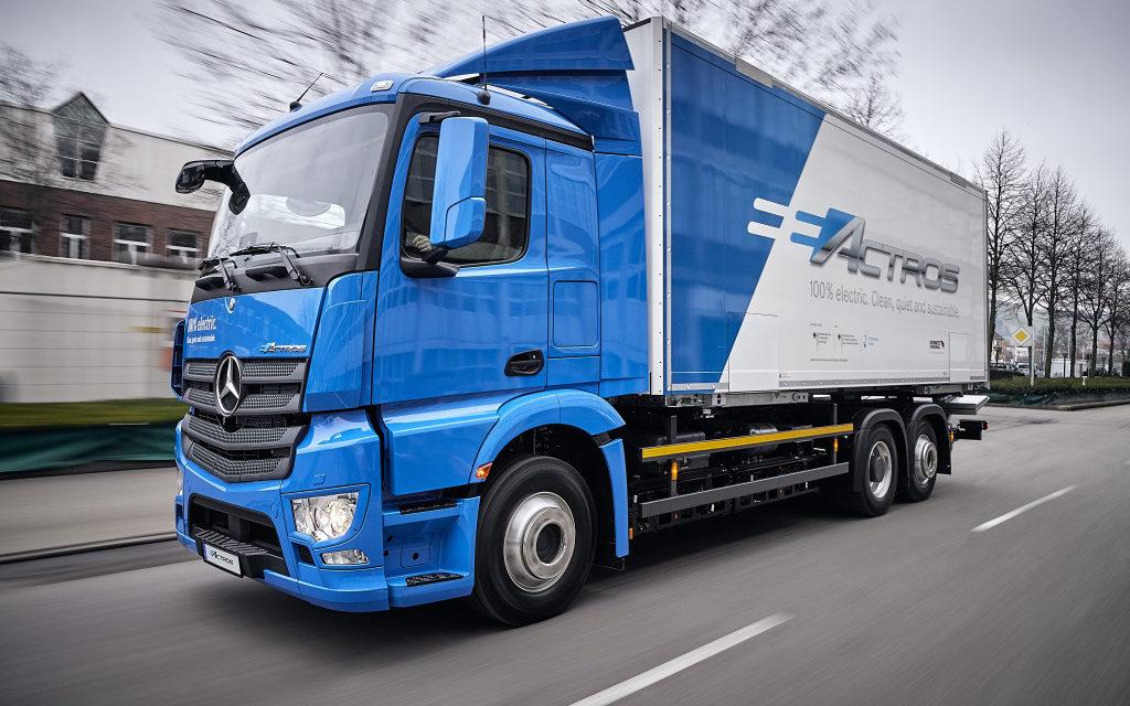 Mercedes-Benz inicia testes com o pesado eActros