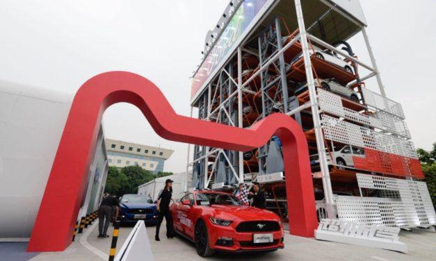 Na China, a primeira máquina de venda de carros da Ford