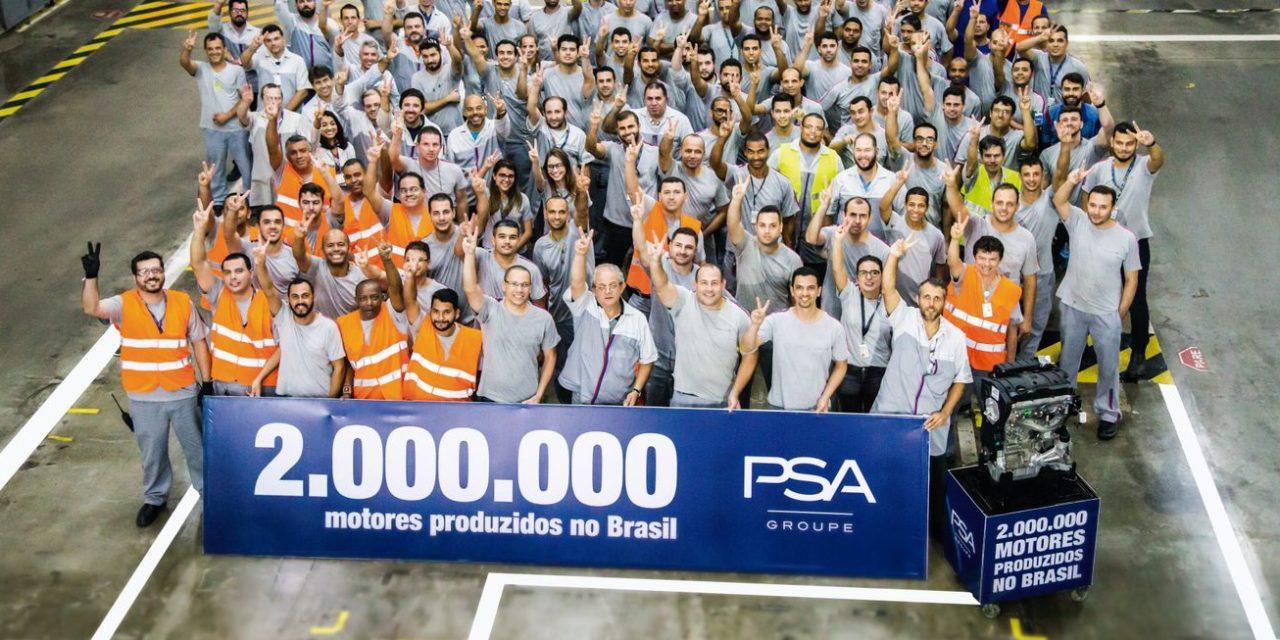 PSA supera a marca de 2 milhões de motores produzidos no Brasil