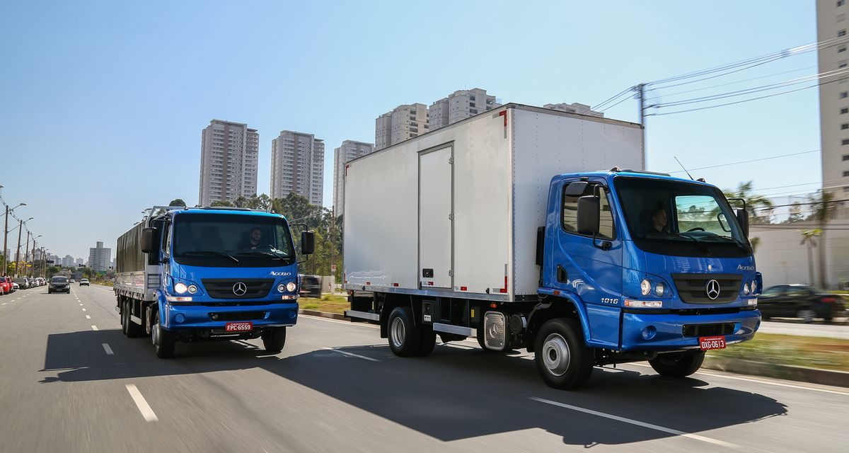 Mercedes-Benz domina as vendas de caminhões leves