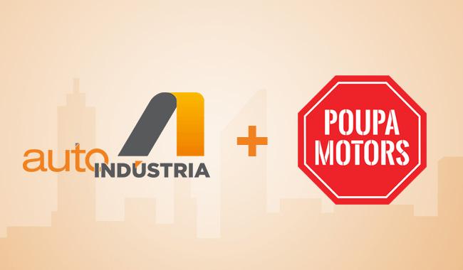 AutoIndústria comemora primeiro ano com parceria com o Poupa Motors