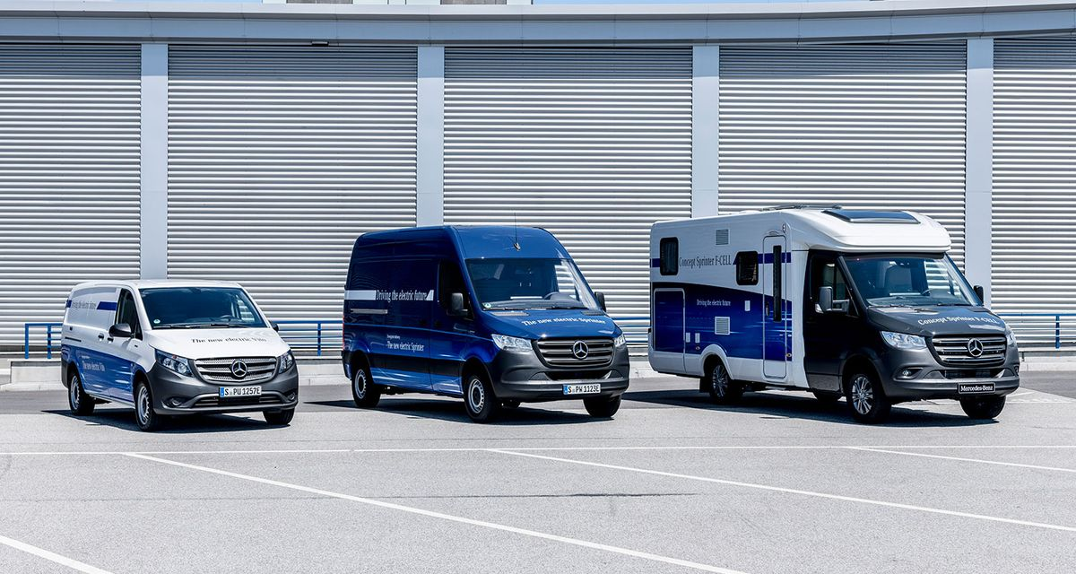 Mercedes-Benz eVito, eSprinter e Sprinter F-Cell