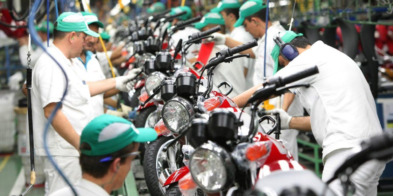 Mercado interno cresce e puxa produção de motos