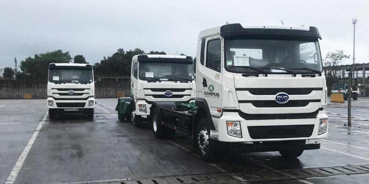 Chegam ao Brasil os primeiros caminhões elétricos BYD