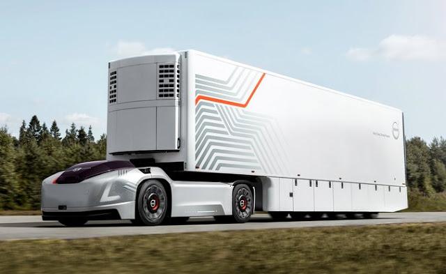 Volvo mostra sistema de transporte de carga autônomo para curtas distâncias