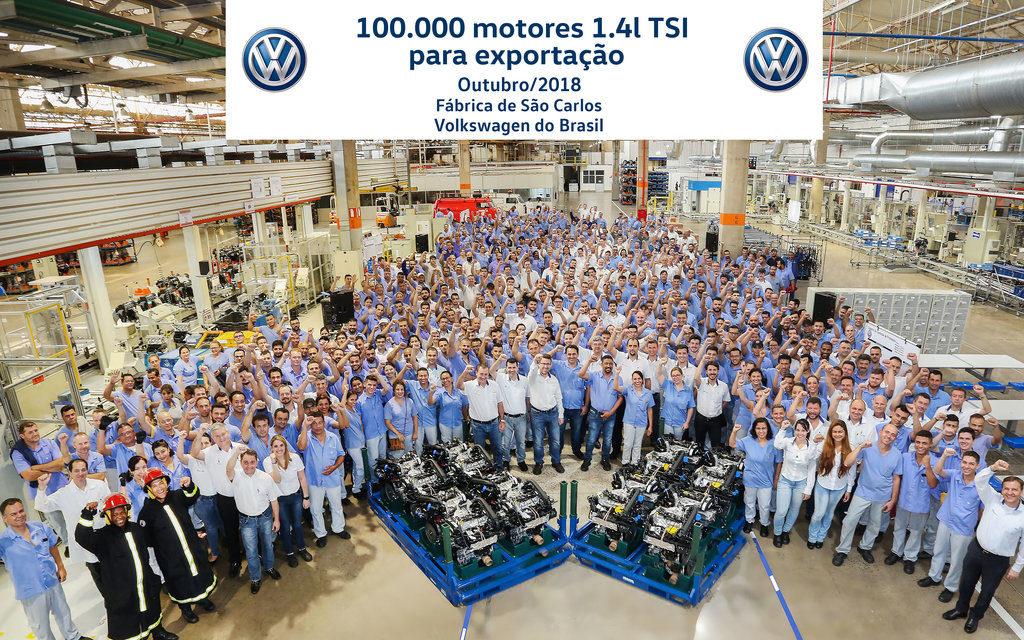 Volkswagen de São Carlos já produziu 100 mil motores 1.4 TSI
