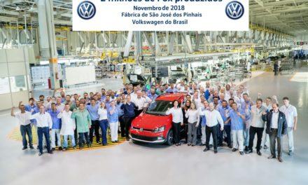 VW Fox: 2 milhões de unidades produzidas no Brasil.