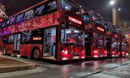 A maior frota elétrica de ônibus de dois andares no mundo