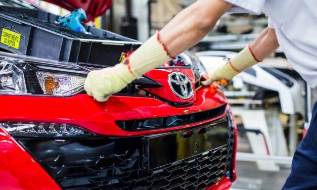 Toyota estima crescer 9,5% em 2019