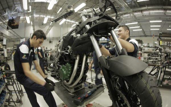 Mercado e produção de motos em alta