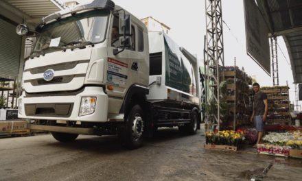 Caminhão elétrico da BYD começa atuar no Rio de Janeiro