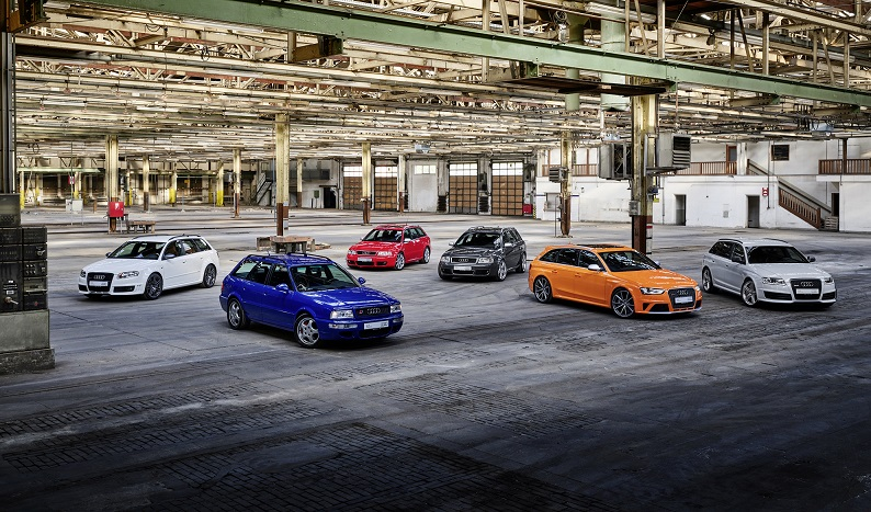 Modelos RS da Audi completam 25 anos