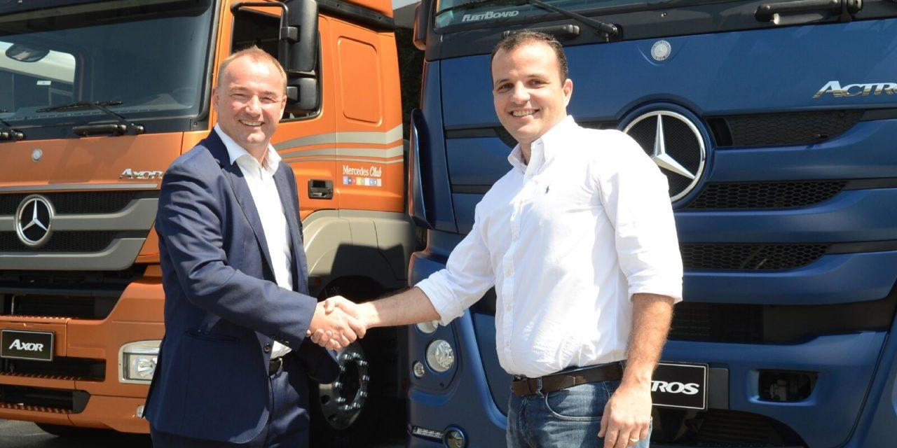 Ambev compra 500 caminhões Mercedes-Benz