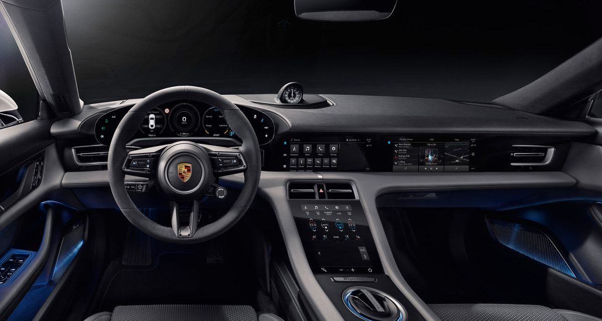 Porsche revela o interior do Taycan