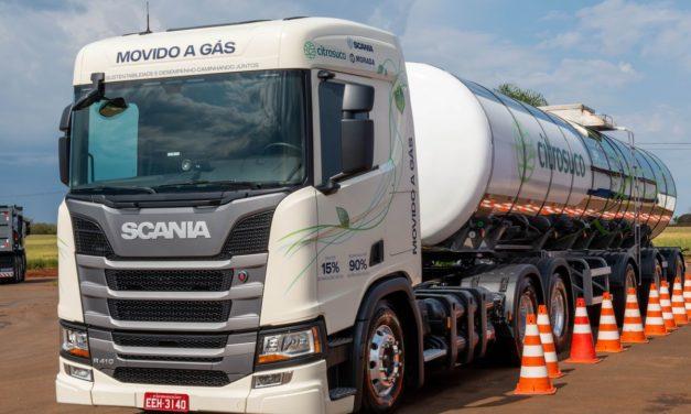 Scania abre vendas de caminhões a gás