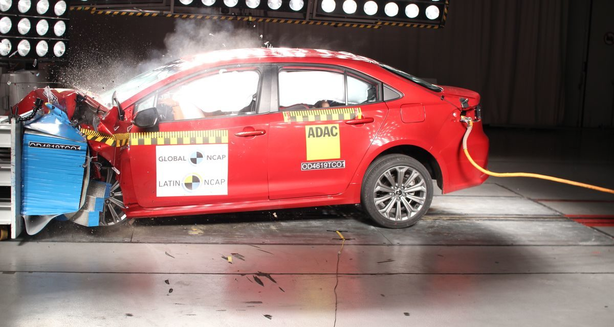 Novo Corolla obtém nota máxima no LatinNCap