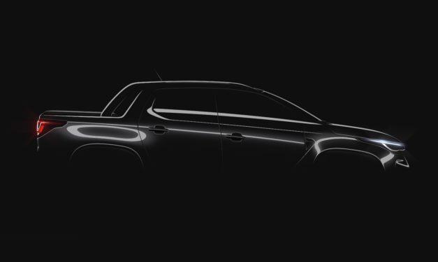 Primeira imagem oficial da nova picape Fiat Strada