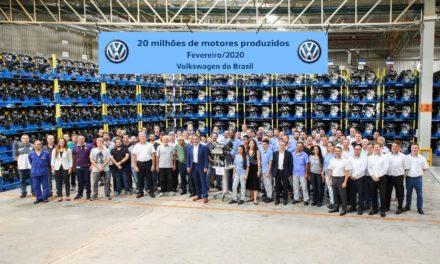 Volkswagen acumula produção de 20 milhões de motores no Brasil