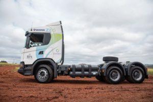 Scania - caminhão a biometano - ZEG - Usina São Martinho