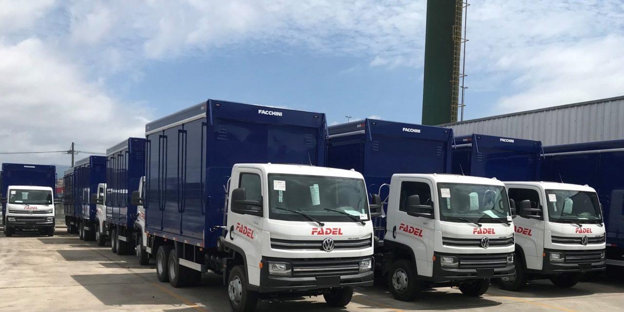 Caminhões Volkswagen na frota da Fadel no Paraguai