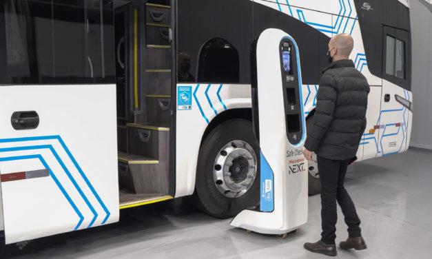 Totem de check-in da Marcopolo aumenta biossegurança em ônibus