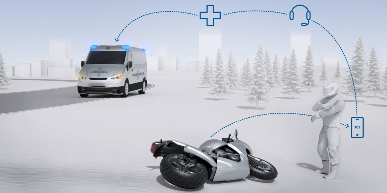 Bosch apresenta sistema de chamadas de emergência para motos