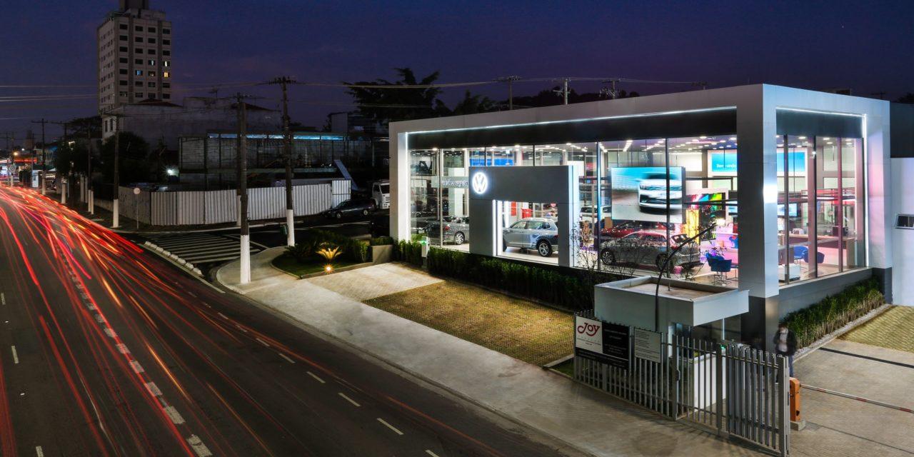 A nova face e jeito das concessionárias Volkswagen
