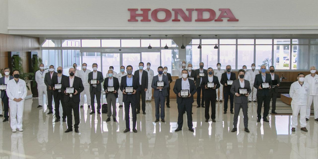 Honda Automóveis premia 17 fornecedores