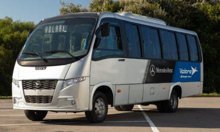 Mercedes-Benz e Volare mostram micro-ônibus em El Salvador