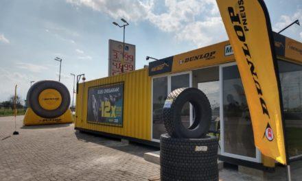 Dunlop investe em containers para atender caminhoneiros