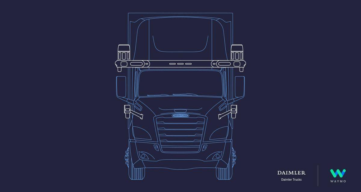Daimler Trucks e Waymo firmam parceria para caminhão autônomo