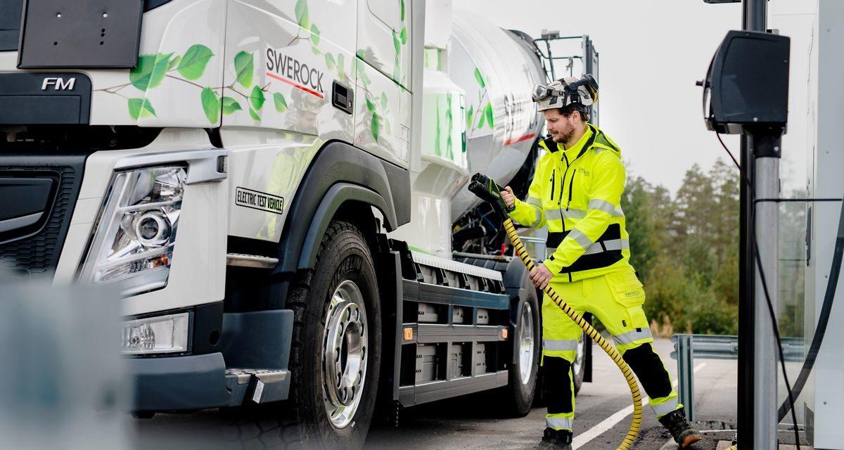 Volvo inicia testes de caminhões pesados elétricos