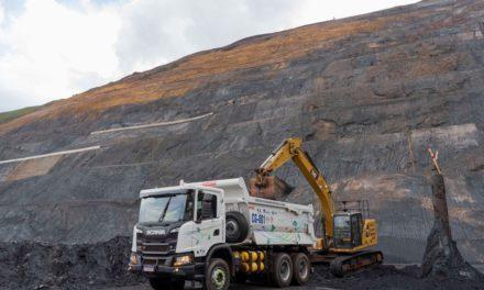 Caminhão Scania a gás chega na mineração