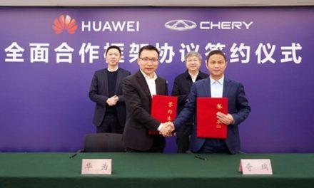 Chery e Huawei firmam parceria de olho no carro inteligente
