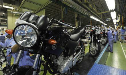 Produção de motos recua 46,5% em janeiro