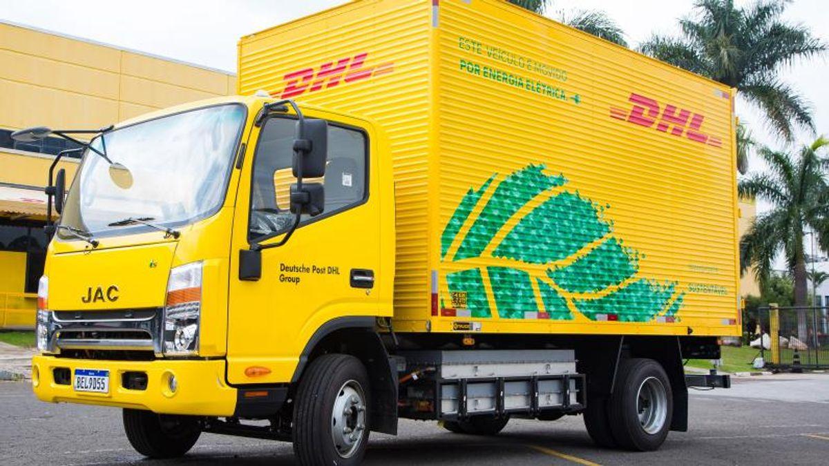 DHL - JAC iEV1200T - caminhão elétrico