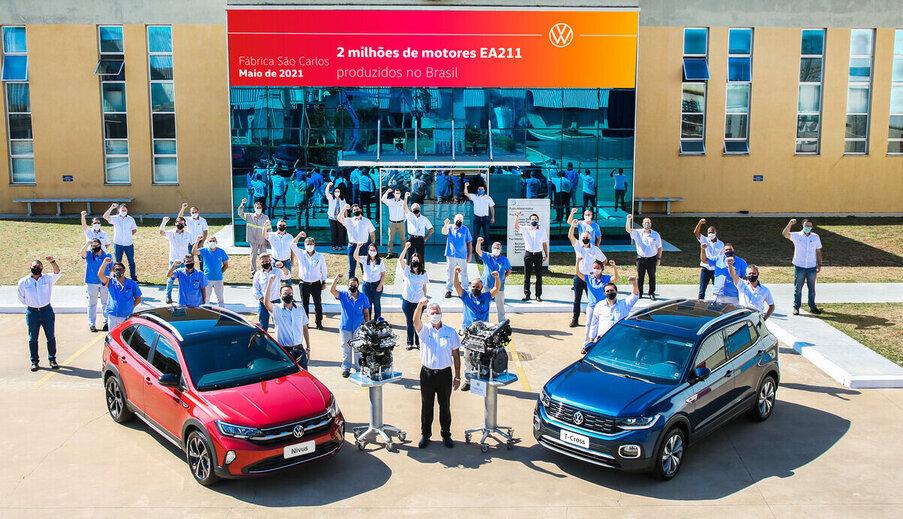 Volkswagen de São Carlos já produziu 2 milhões de motores EA211
